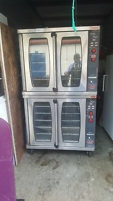 Double stack convection oven