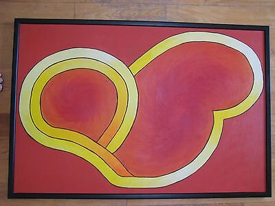 Large Abstract Expressionist Oil Painting Signed Robin Antar American Listed Art