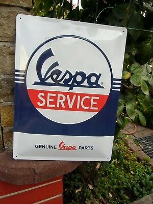 VESPA Service - LARGE Metal Wall Sign - Made in Germany - authentic Piaggio item