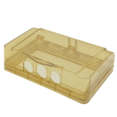 1Pcs Common Socket Switch Clear Dual Waterproof Box Gold For Socket Panel Mount