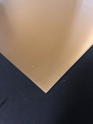 "24ga. Brass Sheet Metal 9""x12"" One Side Coated With Protective Film."
