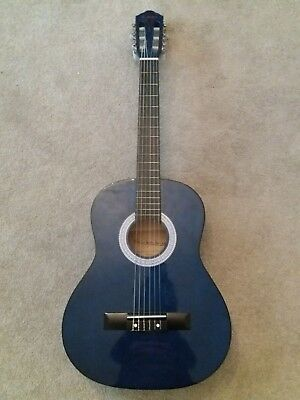 fffa1491657 ACOUSTIC GUITAR BLUE size 36 Inch with canvas guitar case - £4.00 ...