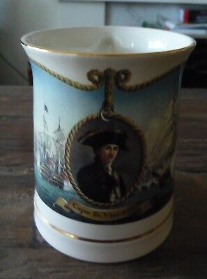 Wedgwood Danbury Mint Horatio Nelson Tankard Cape St Vincent Limited Edit