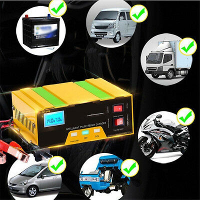 Portable Car Battery Charger Lead Acid Pulse Repair Starter Intelligent