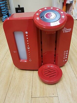 Tommee Tippee EP2262-VR Perfect Prep Baby Bottle Machine Maker in Red