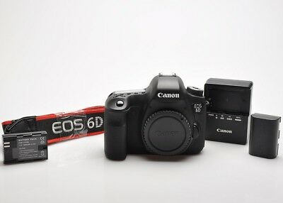 Canon EOS-6D Full-Frame 20.2 MP Camera body, Charger, battery