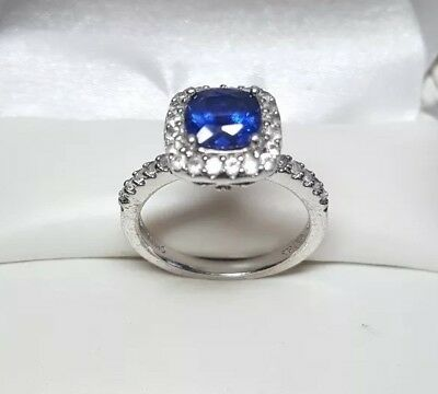Vintage Art Deco Style Signed Sterling Silver Filigree Ring Size 7