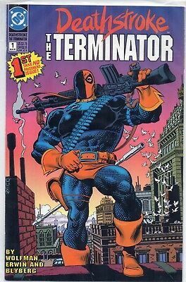 DEATHSTROKE The Terminator #1 Origin of Deathstroke Mike Zeck 1991