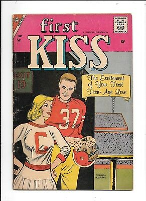 VERY EARLY SILVER AGE  FIRST KISS #3 May 1958  10 Cent comic Charlton    GD/VG