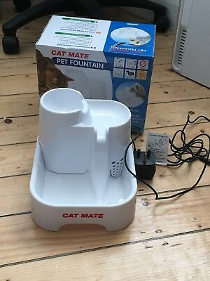 Pet Cat Mate Drinking Fountain Water Bowl for Cats Kittens Small Dogs Puppies