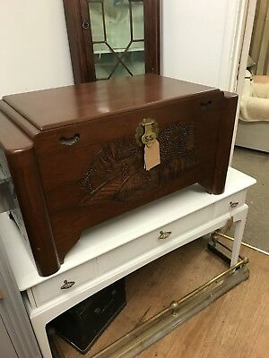 Camphor Wood Chinese Carved Trunk