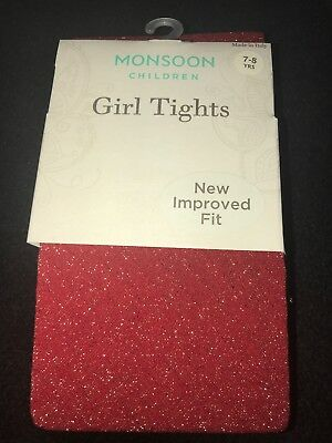 Monsoon Diamond Design Girls Beautiful Tights. Bnip. Absolutely Stunning...