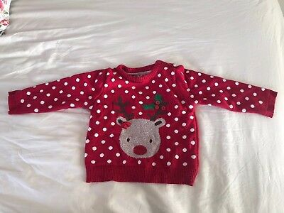 12-18 Months Baby Girls Christmas Jumper Top Clothes