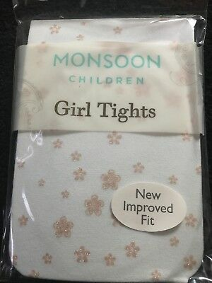 Monsoon Floral Girls Beautiful Tights. Bnip. Absolutely Stunning...