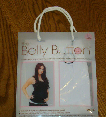 Nwt Belly Button Maternity Band White Large 10-12