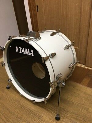 """Used! TAMA Crestar Bass Drum White 24"""" Made in Japan"""