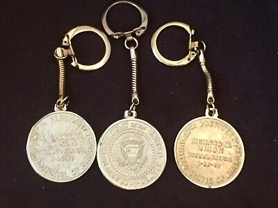 3 Perfect 1969 PRESIDENT RICHARD NIXON INAUGURATION Presidential Seal Keychain