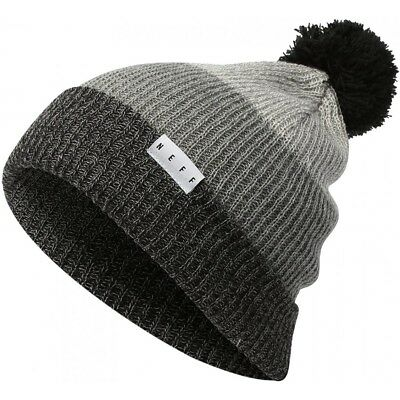 f097117fb NEFF SNAPPY BEANIE Pom Beanie Black / Heather Grey Unisex Hat Winter ...