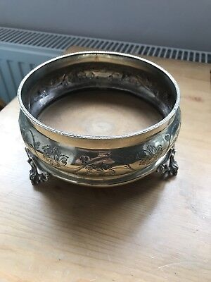 Silver Plated Ornate Wine Coaster