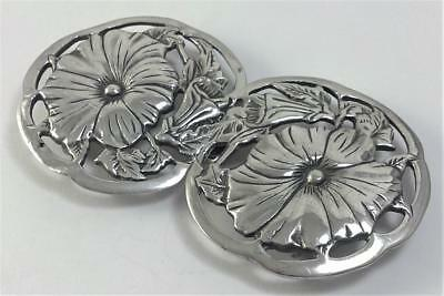 Vintage Sterling Silver 3 ½ ''  Belt Buckle in the Art Nouveau Style– 1982 (39g)