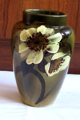 Vintage Pottery Flower Vase Hand Painted England Mark Good Condition