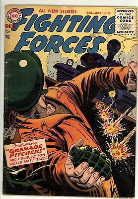 Fighting Forces 10 - Golden Age War Comic - 5.0 VG/FN