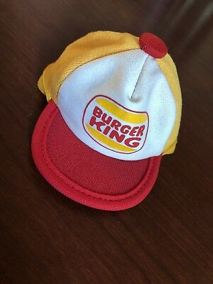 "Vintage Miniature Burger King Advertising Doll Hat Snapback Cap 3.5"" Namark"
