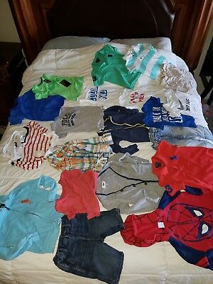 Lot of boys size 3T & 4T Mixed Brands, Tee Shirts, Sweaters with 2 Pants, Shorts