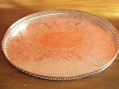 Silver Plate Tray on Copper MAPPIN&WEBB 13