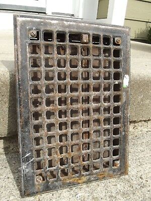 "VINTAGE FLOOR GRATE Used METAL Vent REGISTER Salvage louvers REGISTER 8""X10"""
