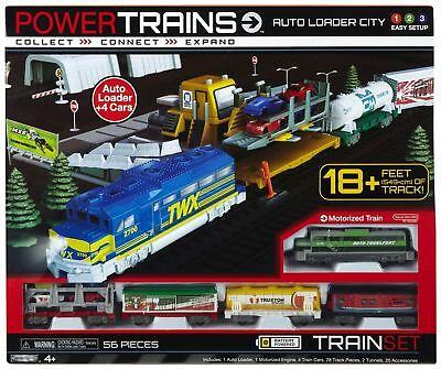 Power Trains Auto Loader City w/ 18ft Tracks Battery Operated Motorized Engine