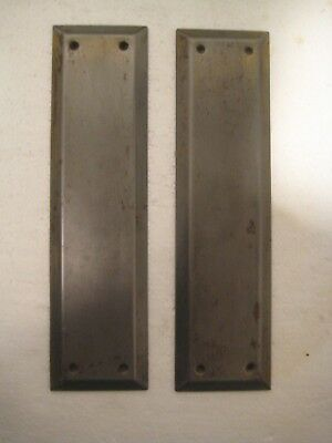 Pair of swinging door push finger plates