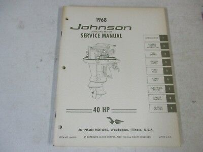 1968 JOHNSON FACTORY Outboard Motor Service Manual 65 Hp