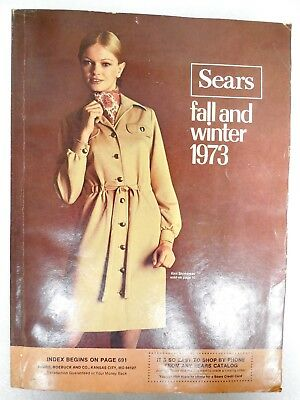 Sears Vintage Fashion Catalog Fall Winter 1973