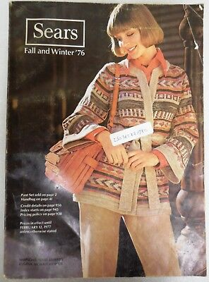 Simpsons Sears Vintage Fashion Catalog Fall Winter 1976