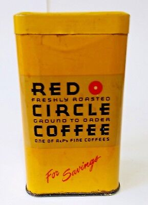 Vintage RED CIRCLE COFFEE BANK - Good Condition