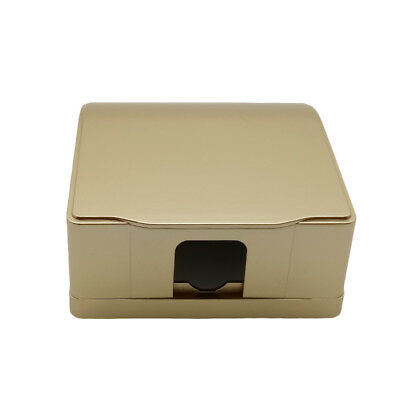 86*86mm Wall Switch Socket Gold Waterproof Cover Box For Socket Panel Mounting
