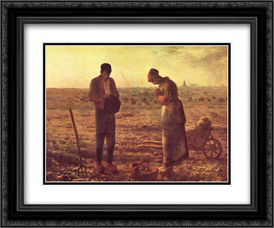 The Angelus, c.1859 2x Matted 15x13 Framed Art Print by Jean Francois Millet
