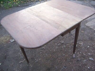 Antique Georgian Solid Mahogany Drop-Leaf  Dining Table  55 inches by 39 inches