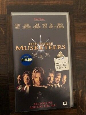The Three Musketeers VHS, Walt Disney Pictures Presents,