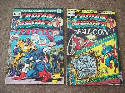 Captain America # 170,178 -  Marvel Comics 1974 - The Falcon