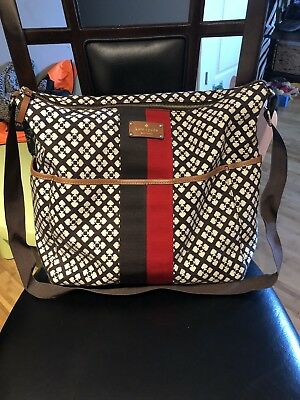 Kate Spade Chocolate Baby Diaper Bag  W/ Pad