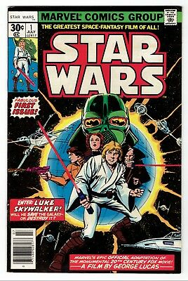 Marvel Comics Star Wars Issue No. 1 July 1977 Overall Good to VG Condition
