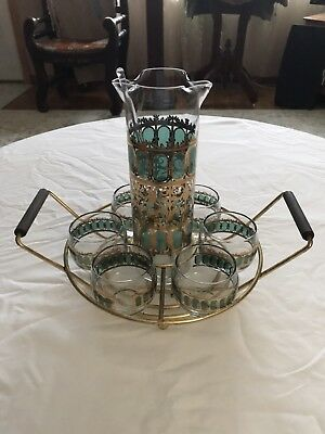 Roly Poly Cocktail Set With Carrying Tray Mid Century