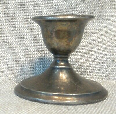 Candle Stick, Silver Plate, BP Co, EP Lead. Very heavy, unfussy design