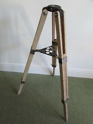 Vintage 1970's Wooden adjustable Japanese Telescope Tripod,ideal for lighting...