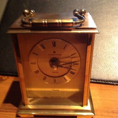 Vintage Junghams Meister Quality Brass Carriage Clock,Battery Operated