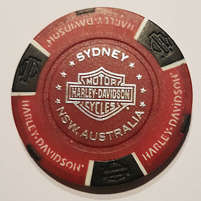 "1 Orig. Harley-Davidson Pokerchip ""Northern Beaches H-D, Sydney, NSW Australia"""