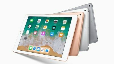 "Apple Ipad 6Th Gen Gold Silver Space Gray 9.7"" 32Gb 128Gb Wifi Lte Cellular 2018"