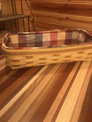 Longaberger 2013 Rectangle Bread Basket Combo